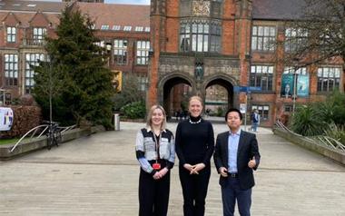 柳橙国际CEO Nelson先生访问英国名校纽卡斯尔大学